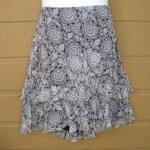 WHBM WHITE HOUSE BLACK MARKET Skirt, 12, Ruffled